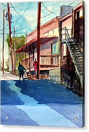 Back Alley Acrylic Print by Ron Stephens