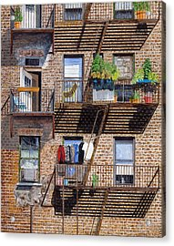 Back Alley View Greenwich Vlg Acrylic Print