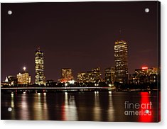 Acrylic Print featuring the photograph Back Bay At Night by Mike Ste Marie