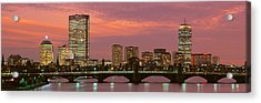 Back Bay, Boston, Massachusetts, Usa Acrylic Print