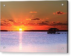 Back Bay Sunrise Acrylic Print
