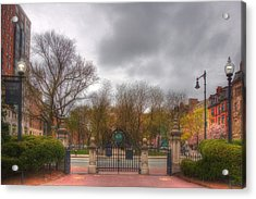 Back Bay Through The Public Garden - Boston Acrylic Print by Joann Vitali