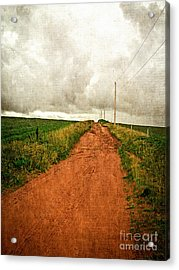 Back Country Road Prince Edward Island Acrylic Print by Edward Fielding
