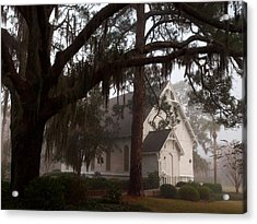 Acrylic Print featuring the photograph Back Door Believer by Laura Ragland