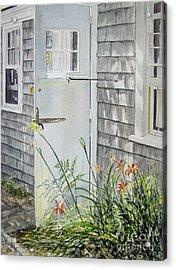 Back Door Nantucket Acrylic Print by Carol Flagg
