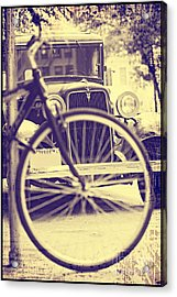 Acrylic Print featuring the digital art Back In Time by Erika Weber