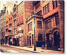 Back In Time - Stone Street Historic District - New York City Acrylic Print by Vivienne Gucwa
