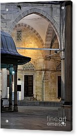 Back Lit Interior Of Mosque  Acrylic Print by Imran Ahmed