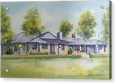 Back Of House Acrylic Print by Debbie Lewis