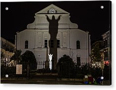 Back Of St Louis Cathedral In New Orleans Acrylic Print