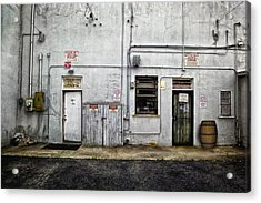 Back Of Store Acrylic Print