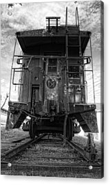 Back Of The Line - Bw Acrylic Print by Steve Hurt