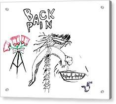 Back Pain Acrylic Print by James Goodman