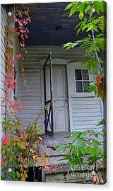 Back Porch Door Acrylic Print by Jill Battaglia