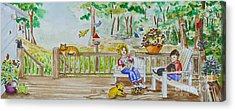 Back Porch Acrylic Print