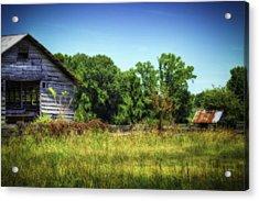 Back Road Barns Acrylic Print by Barry Jones
