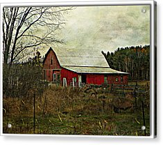 Back Road Barns  Acrylic Print by Dianne  Lacourciere