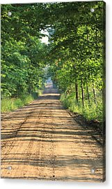 Back Road Morning Acrylic Print by Sarah Boyd