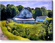 Back Roads Country Barn Acrylic Print by Virginia Folkman