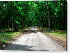Back Roads Of South Carolina Acrylic Print