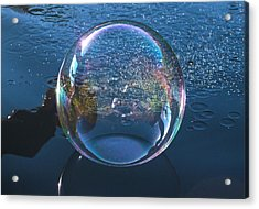 Back Splash Acrylic Print by Terry Cosgrave