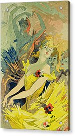 Back-stage At The Opera Acrylic Print by Jules Cheret