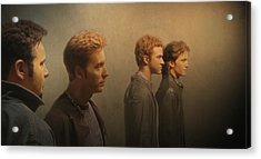 Back Stage With Nsync Acrylic Print by David Dehner