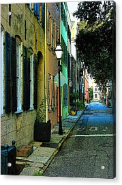 Acrylic Print featuring the photograph Back Street In Charleston by Rodney Lee Williams