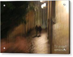 Back Street Of Barcelona Cathedral Acrylic Print