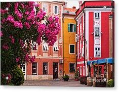 Back Streets Of Izola Slovenia Acrylic Print