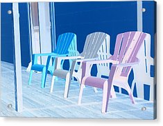 Acrylic Print featuring the photograph Back To Back At The Beach by Marie Neder