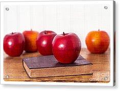 Back To School Apples Acrylic Print by Edward Fielding
