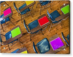 Back To School Acrylic Print by Diane Diederich