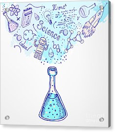 Back To School Science Learning Symbols Acrylic Print