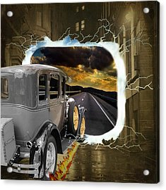 Back To The Future Acrylic Print by Davandra Cribbie