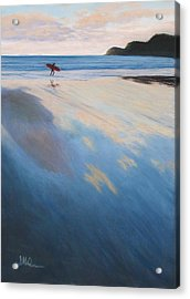 Acrylic Print featuring the pastel Back Tomorrow  by Serena Dawson