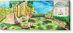 Back Yard Camp Acrylic Print