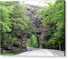 Backbone Rock Tunnel - Virginia Acrylic Print