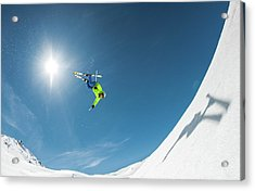 Backcountry Backflip Acrylic Print