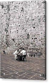 Backgammon At The Ancient Wall Acrylic Print