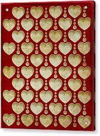Background Heart  Acrylic Print by Irina Effa
