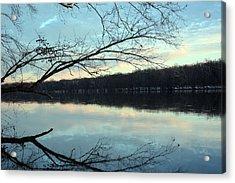 Backlit Skies On The Potomac River Acrylic Print by Bill Helman