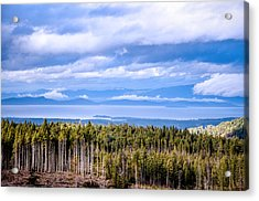 Johnstone Strait High Elevation View Acrylic Print