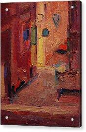Backstreet In Sienna Acrylic Print by R W Goetting