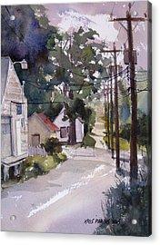 Backstreet Acrylic Print by Kris Parins