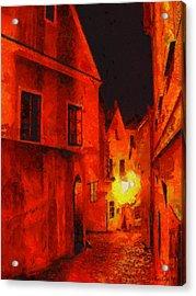 Backstreets Of Prague Acrylic Print