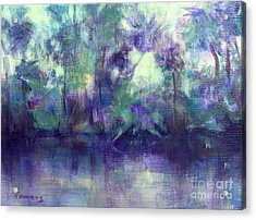 Backwater Acrylic Print by Mary Lynne Powers