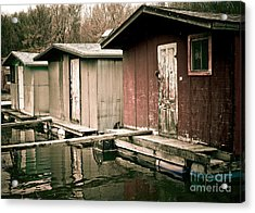Acrylic Print featuring the photograph Backwater Trio by Kari Yearous