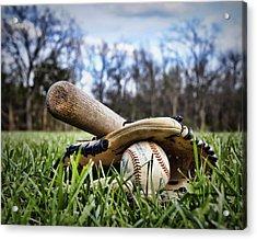 Backyard Baseball Memories Acrylic Print