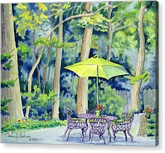 Acrylic Print featuring the painting Backyard Retreat by Dan Redmon